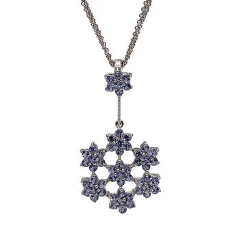 18k White Gold 2.24ct Tanzanite Pendant