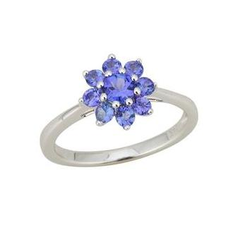 14k White Gold .82ct Tanzanite Ring