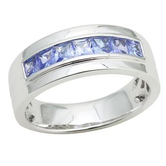 14k White Gold Men's 1.40ct Tanzanite Ring