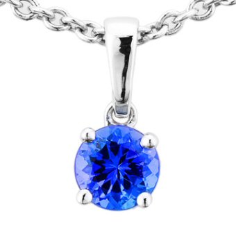 14k White Gold .55ct Tanzanite Pendant