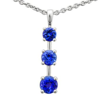 14k White Gold 1.21ct Tanzanite Pendant