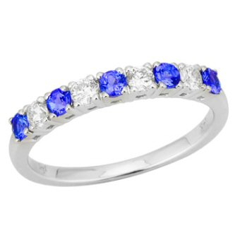 14k White Gold .26ctw Diamond .35ct Tanzanite Ring