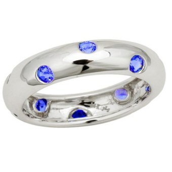 14k White Gold .70ct Tanzanite Ring