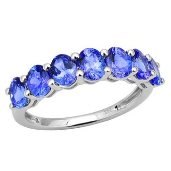14k White Gold 3.15ct Tanzanite Ring
