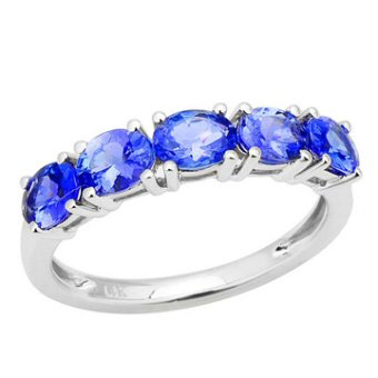 14k White Gold 2.25ct Tanzanite Ring