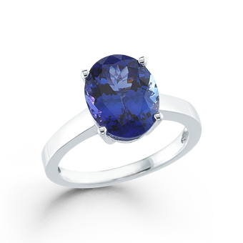 18k White Gold 4.53ct Tanzanite Ring